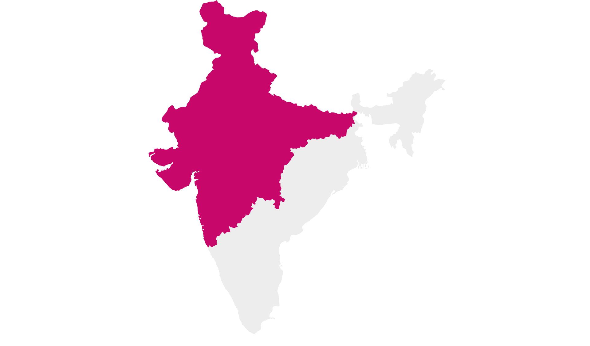 Karte Rundreisen Nordindien