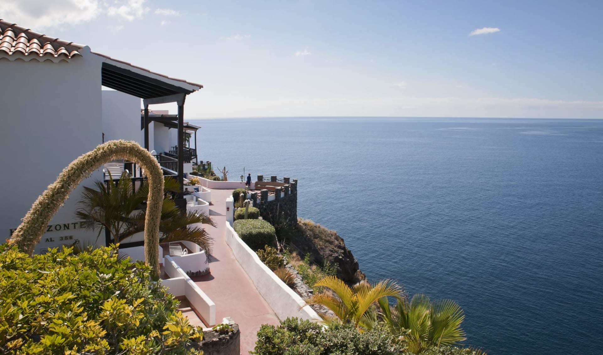 Hotel Jardín Tecina in La Gomera: JardinTecina_Aussicht