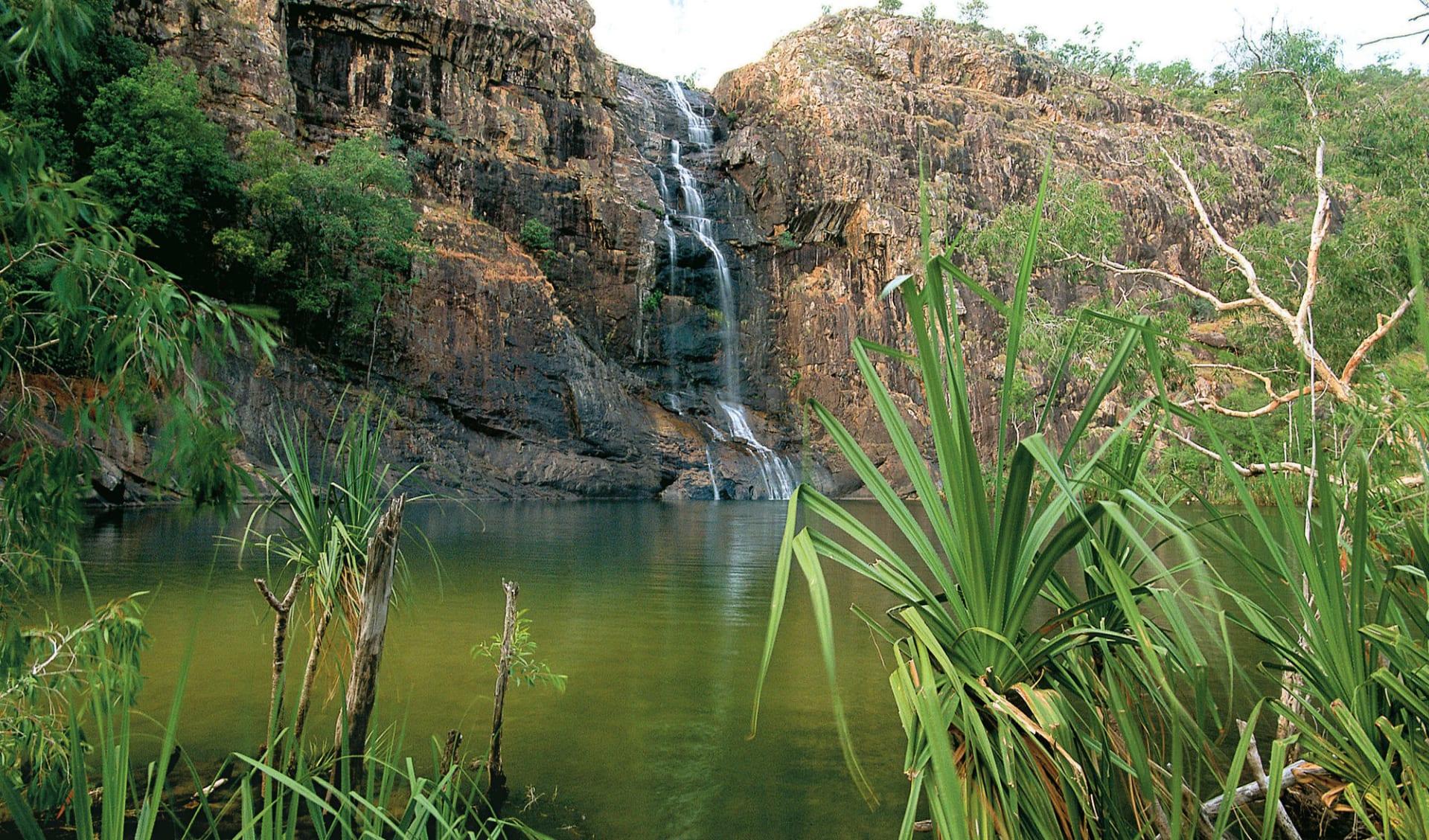 Arnhemland, Kakadu & Litchfield Adventure ab Darwin: Kakadu National Park - Gunlom Falls in grün