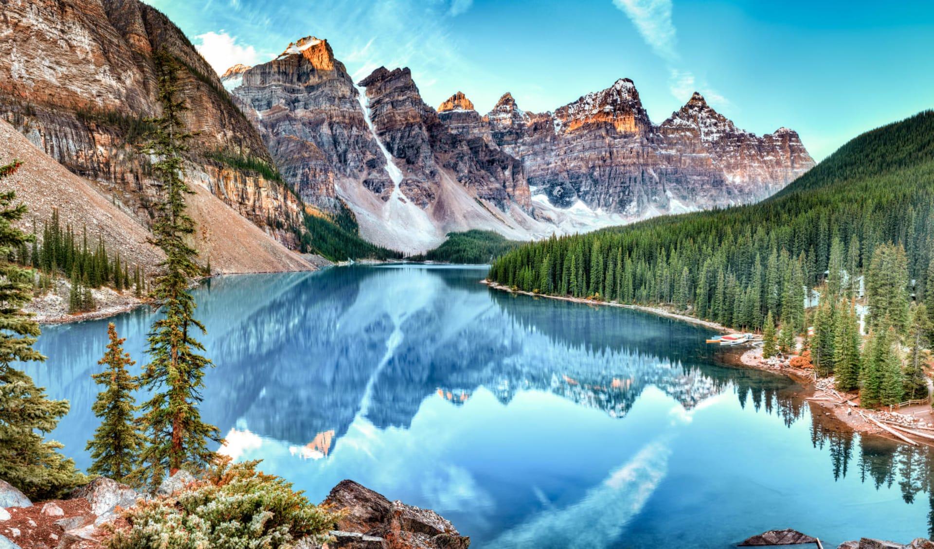 Lodge-Abenteuer Westkanada ab Calgary: Kanada - Banff Nationalpark - Bergsee