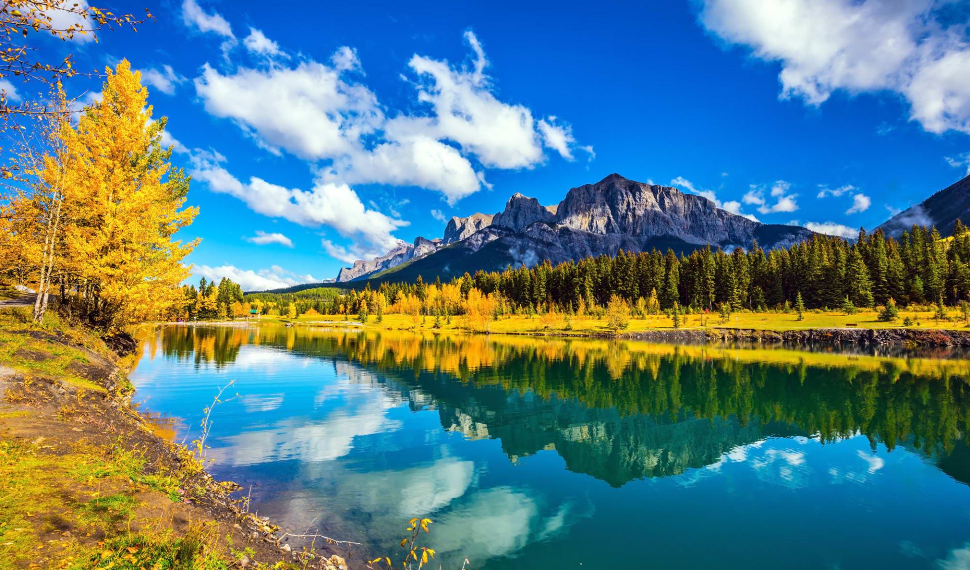 Abenteuer Northwest Territories ab Edmonton: Banff Nationalpark - Canmore Lake