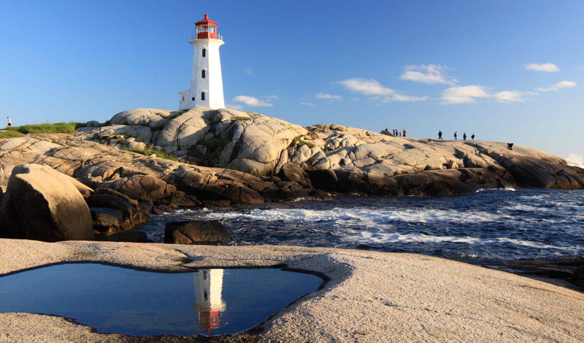 Auf den Spuren der Wikinger ab Halifax: Kanada - Nova Scotia - Peggys Cove Lighthouse