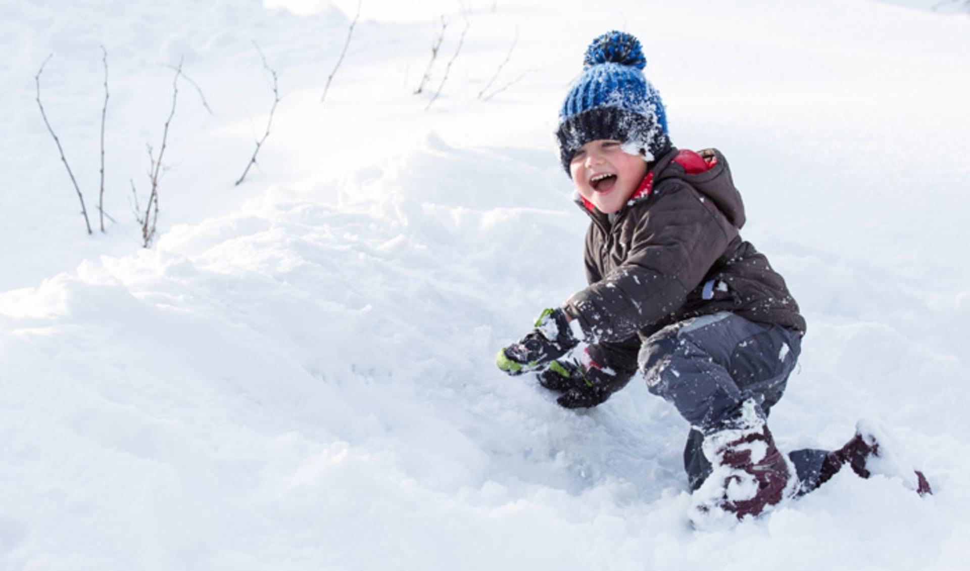 Little Boy in Snow