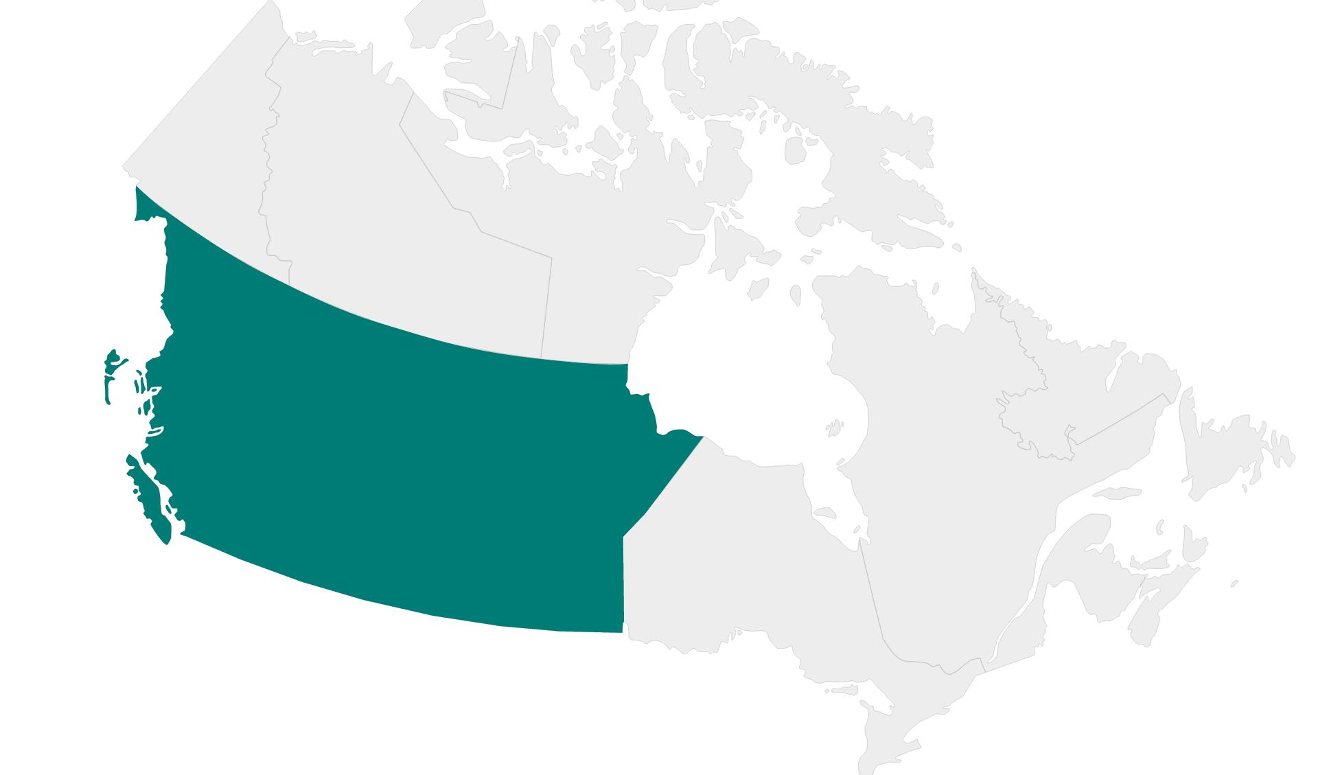 Karte Rundreisen Westkanada