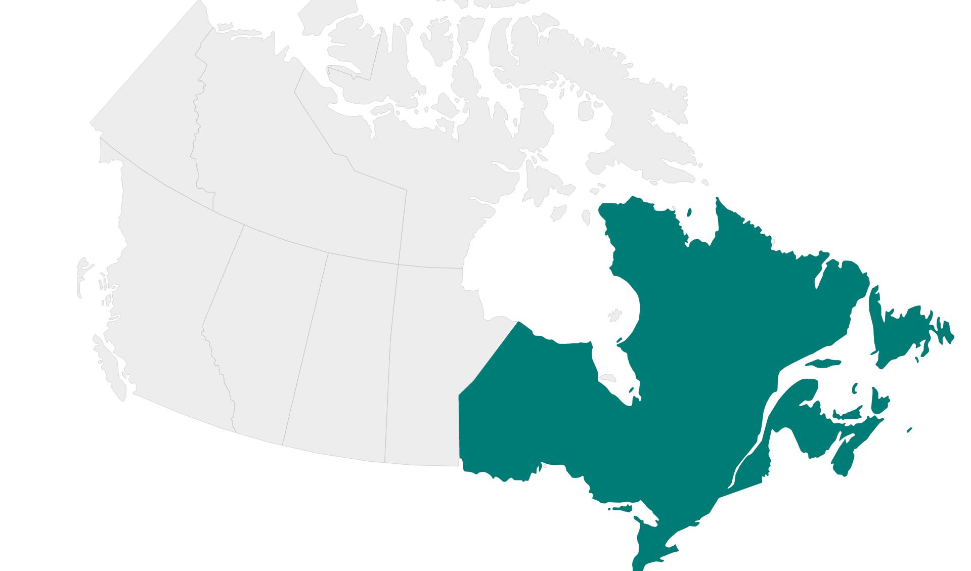 Karte Rundreisen Ostkanada