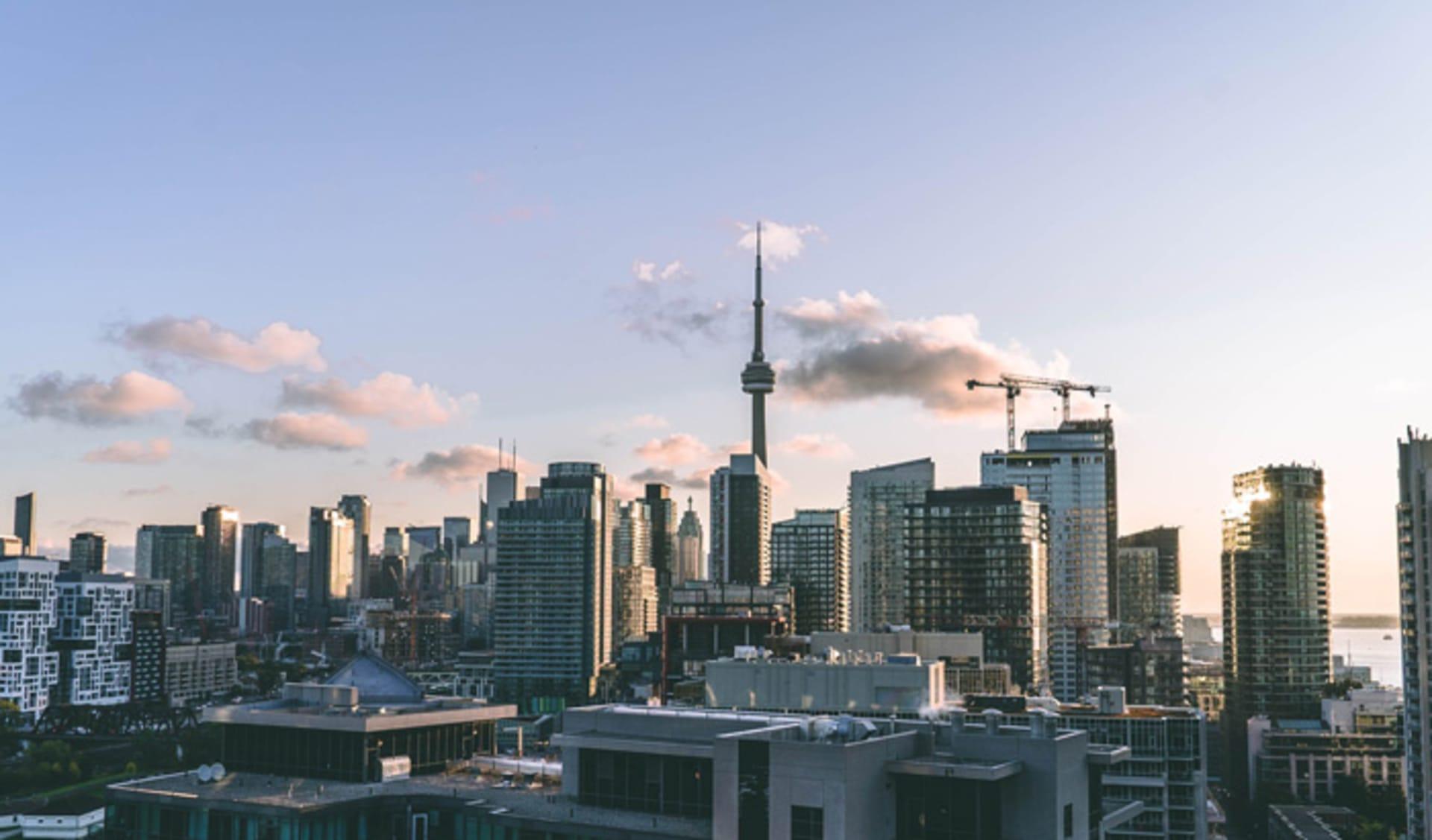 Evening sky over Toronto