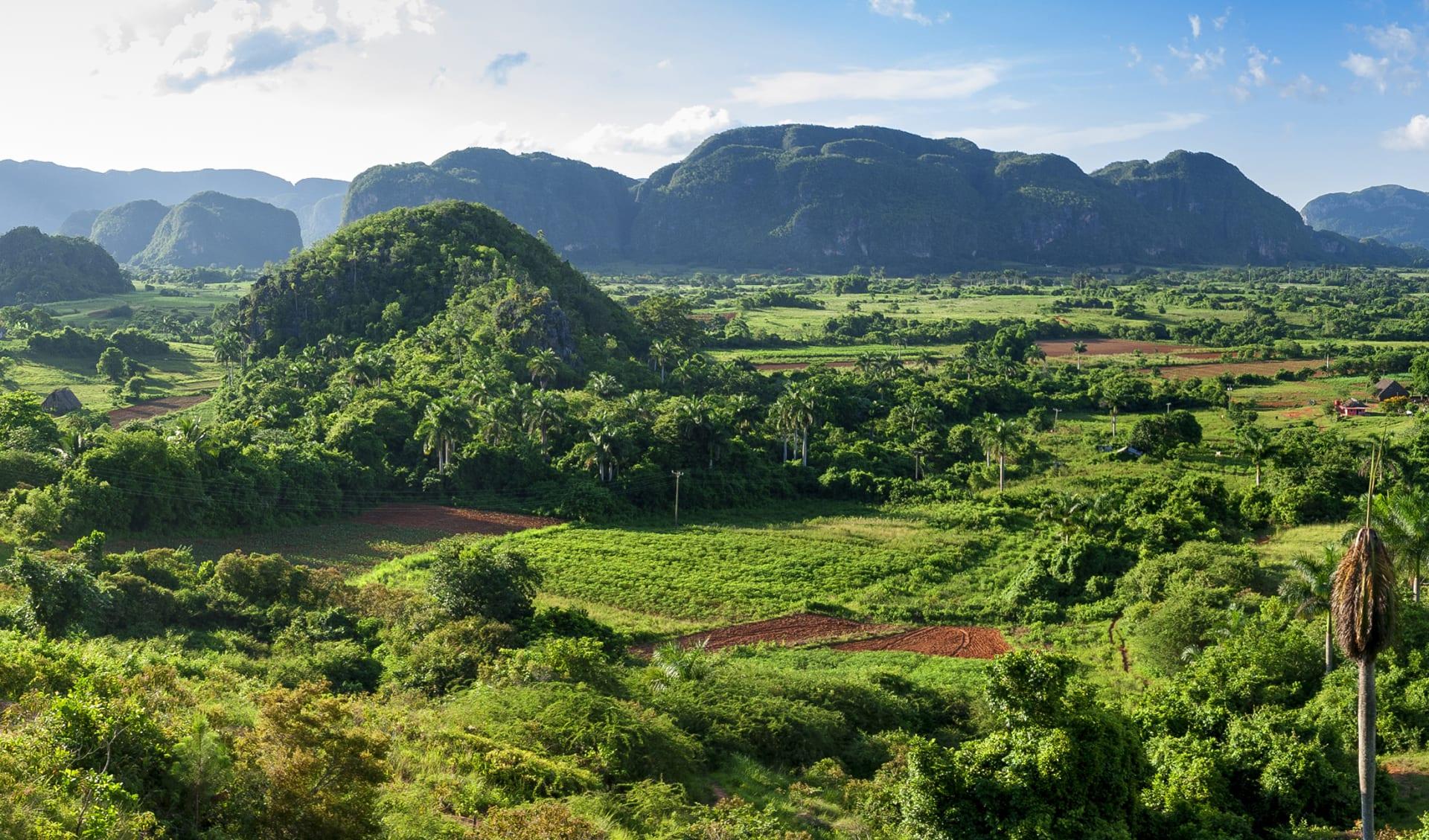 Panoramablick auf das Tal von Vinales, Kuba