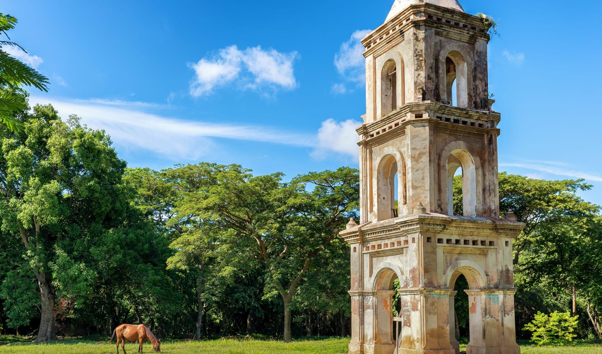 Observation tower at sugar mill San Isidro de los Destiladeros. Valle de los Ingenios, Trinidad, Cuba