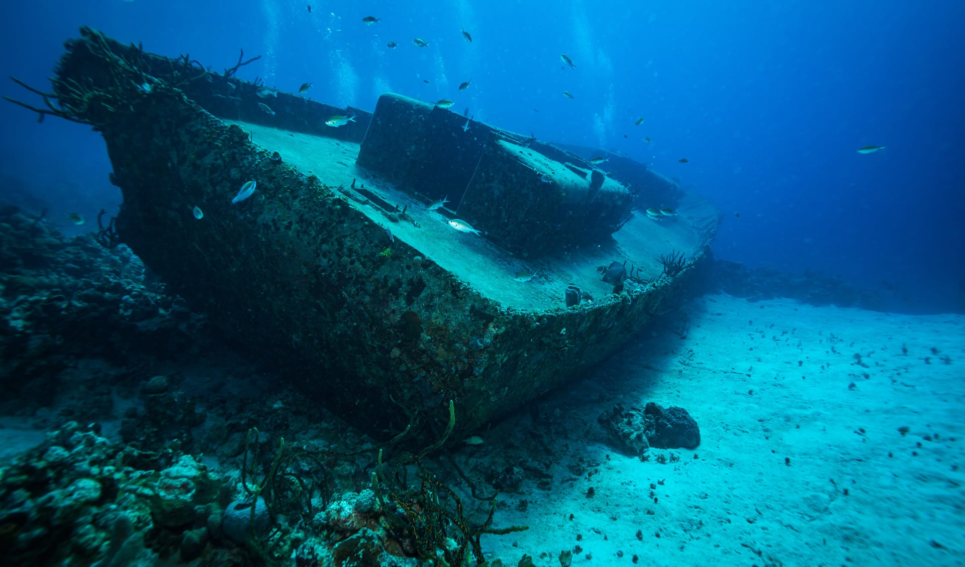 Shipwreck in the Bay of Pigs