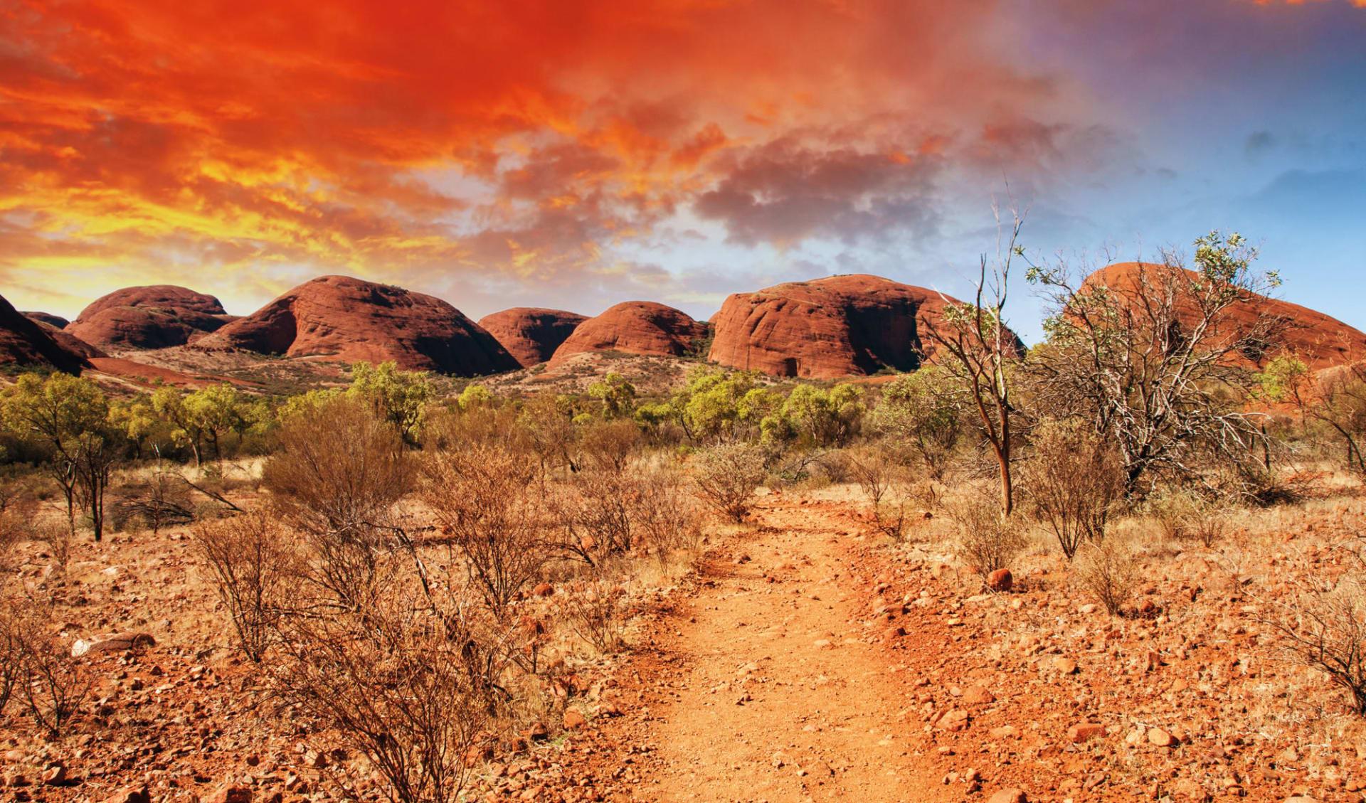 Rock 'n' Canyon ab Alice Springs: Kata Tjuta - Rote Wolken