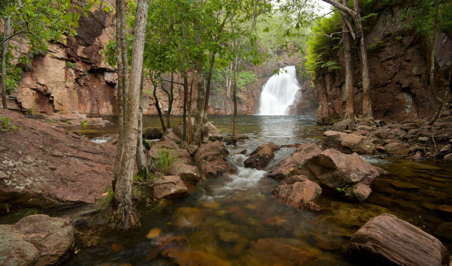 Arnhemland, Kakadu & Litchfield Adventure ab Darwin: Litchfield National Park - Florence Falls unten