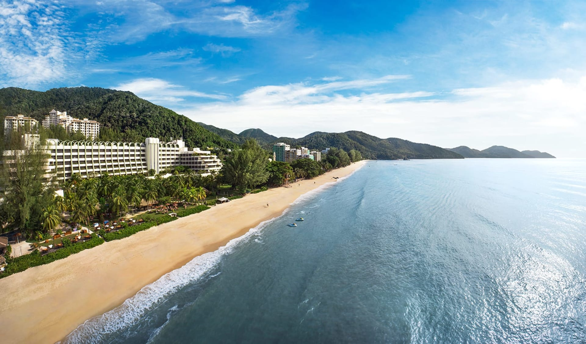 Parkroyal Penang Resort: Aerial view with blue sky