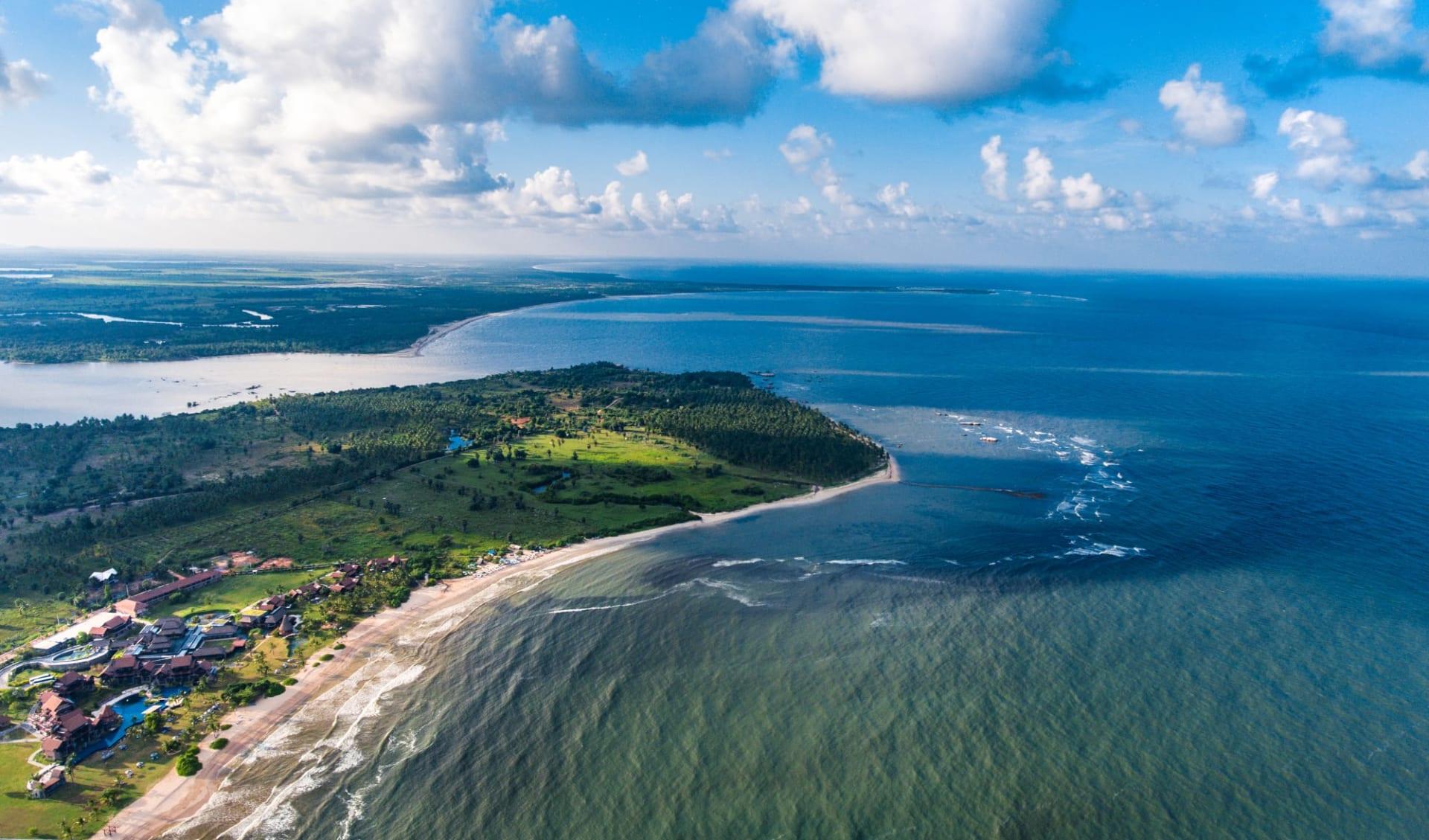 Amaya Beach in Passekudah: Amaya Beach Aerial View