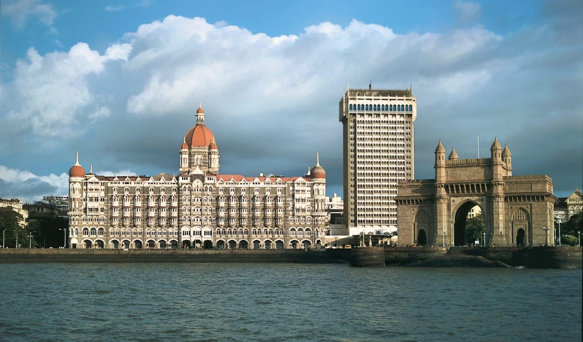 The Taj Mahal Palace in Mumbai: Mumbai Taj Mahal Palace with Gateway of India