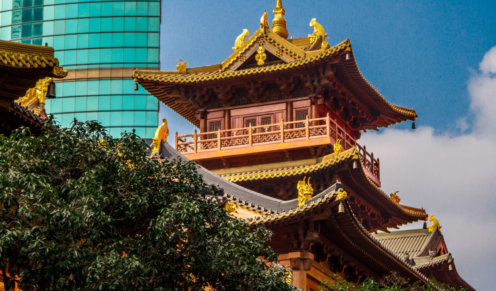 Hotel Mason in Shanghai:  Peking, Jing'An Tempel