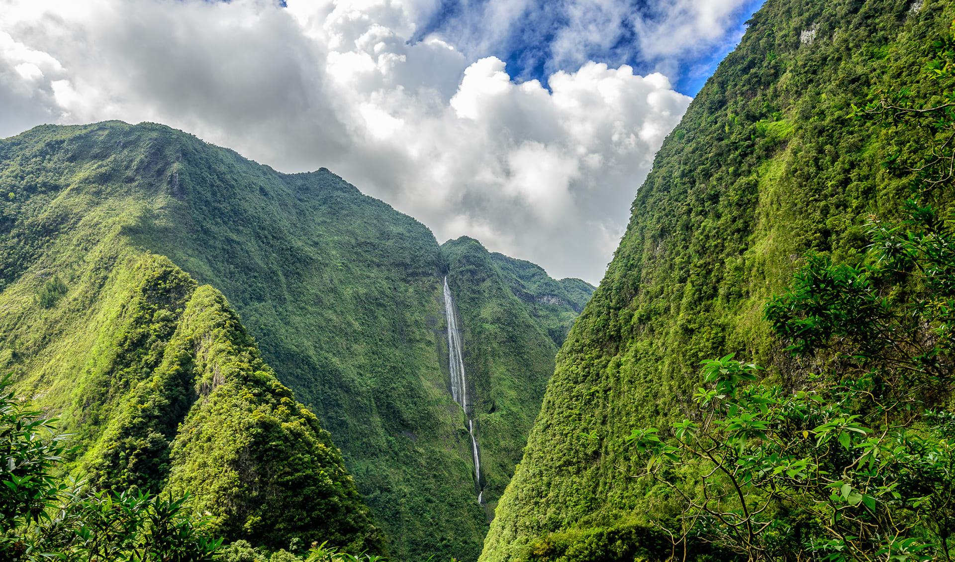 Cascade blanche, cirque de Salazie, La Reunion