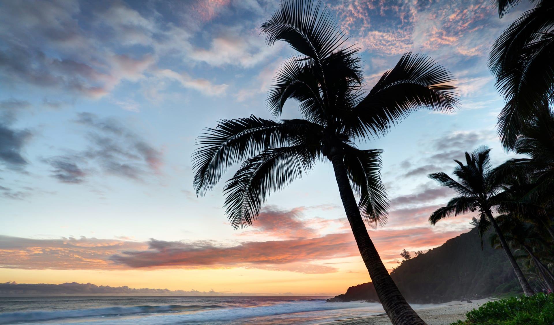Aktivferien, Strand, Sonnenuntergang, La Reunion