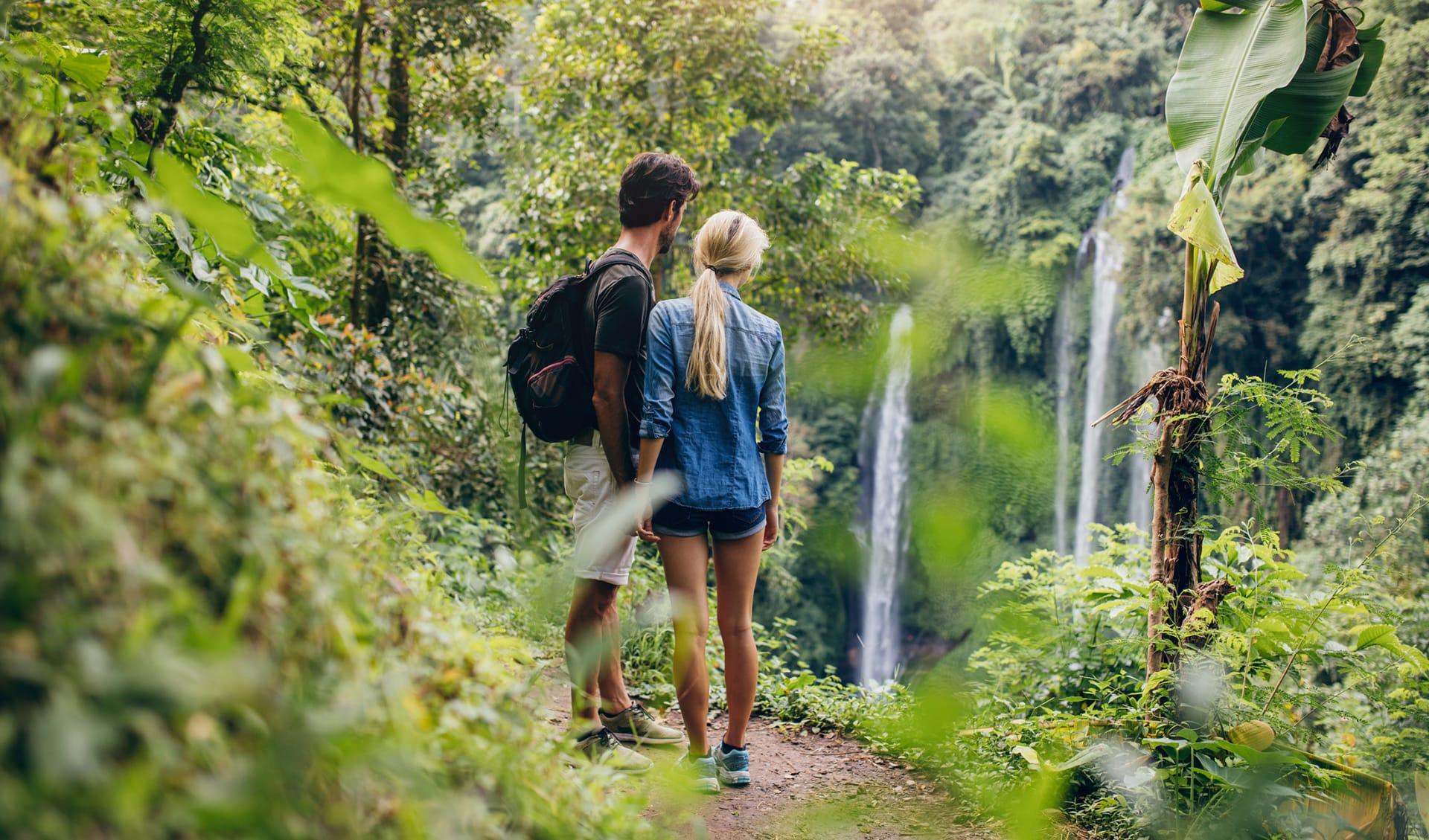 Flitterwochen, Wandern, Langevin River, Wasserfall, La Reunion