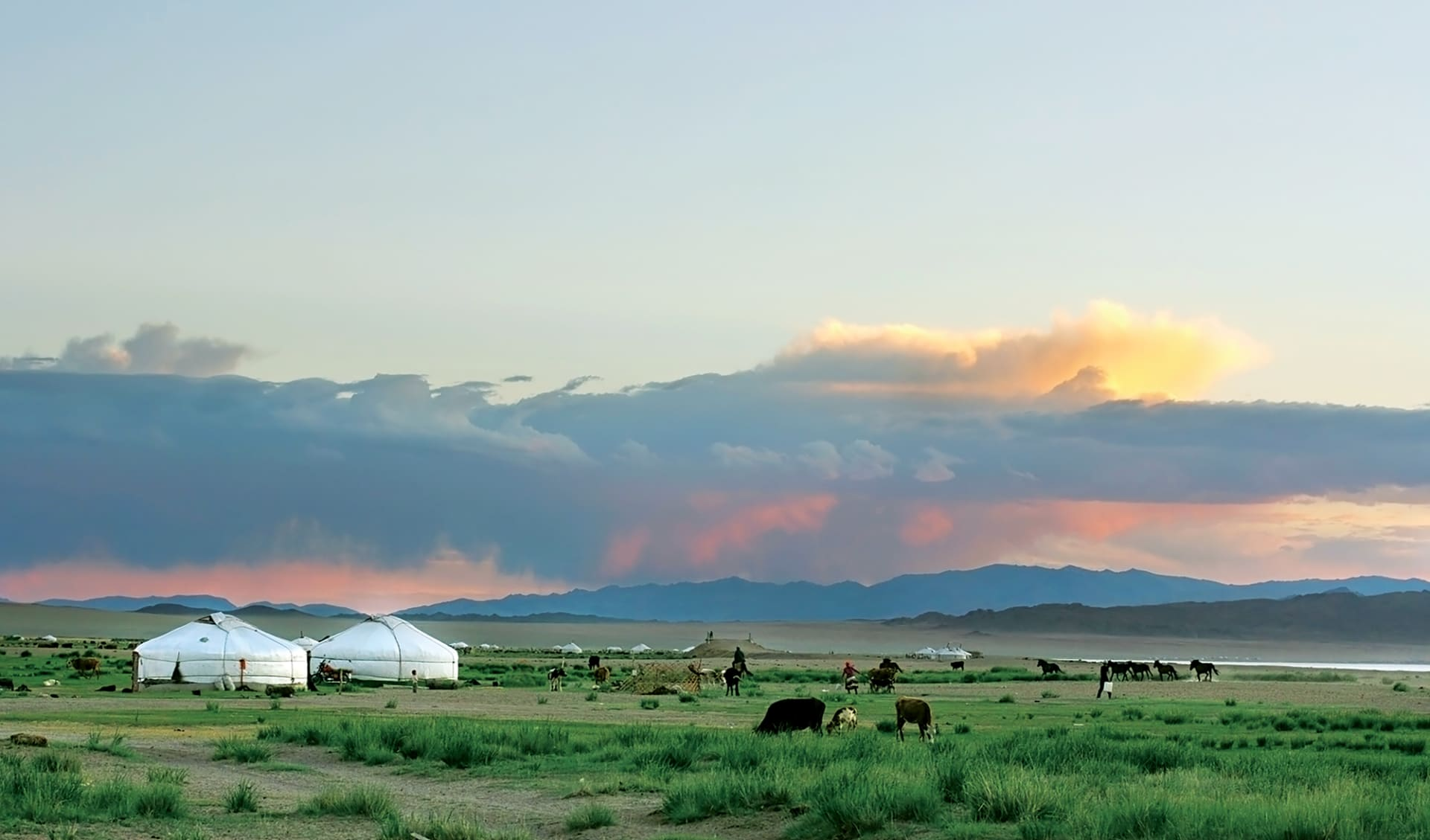 Hauptstadt des Dschingis Khan ab Ulaanbaatar: Mongolei_Grasland_