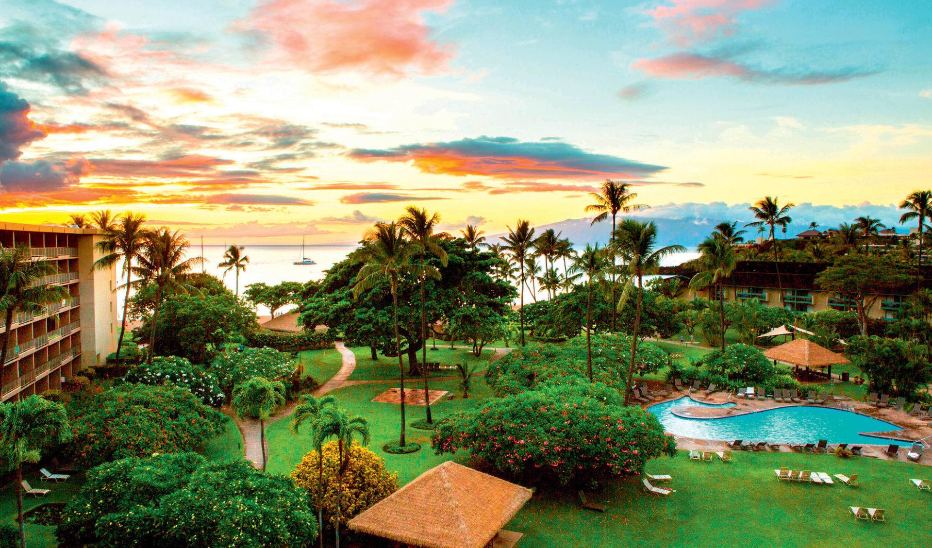 Kaanapali Beach Hotel in Lahaina - Maui: natur kaanapali beach hotel gartenanlage hotel
