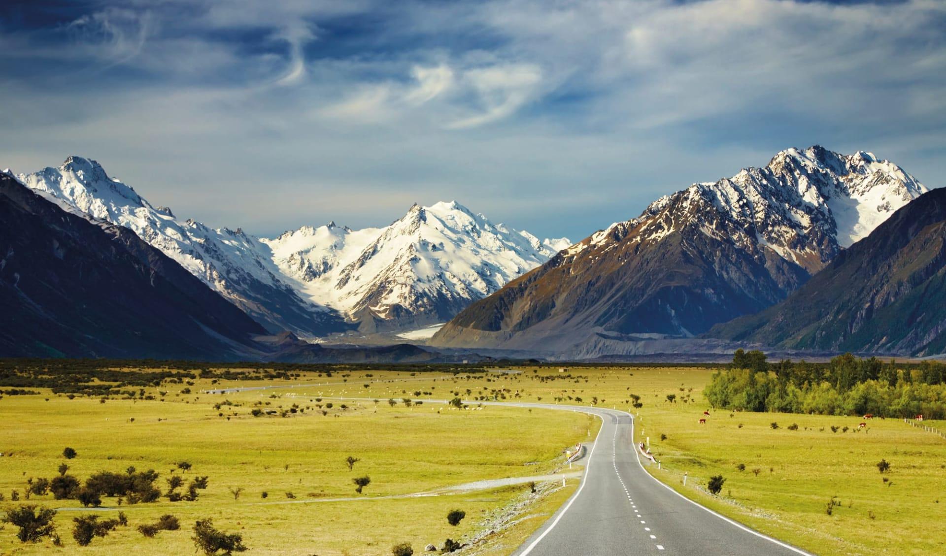 Faszination Südinsel ab Christchurch: Neuseeland - Südinsel - die südlichen Alpen