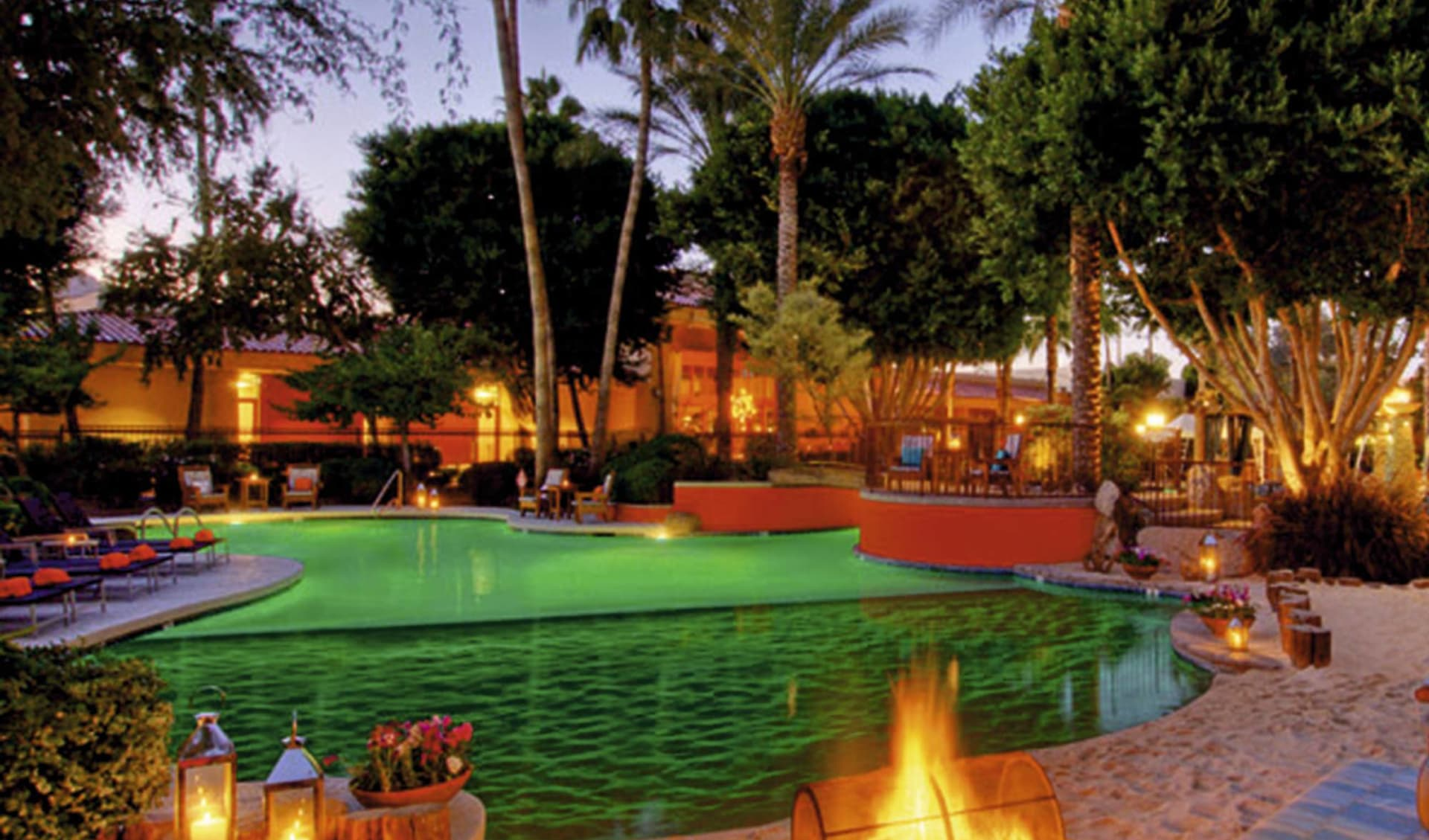 The Scott Resort & Spa in Scottsdale: pool firesky resort and spa a kimpton hotel scottsdale pool palmen