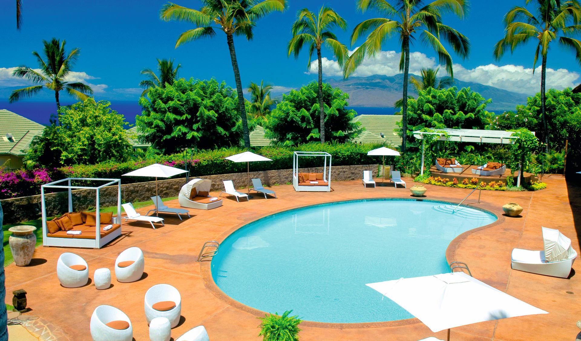 Hotel Wailea, Relais & Châteaux in Wailea - Maui: pool hotel wailea relais and chateaux poolbereich und garten