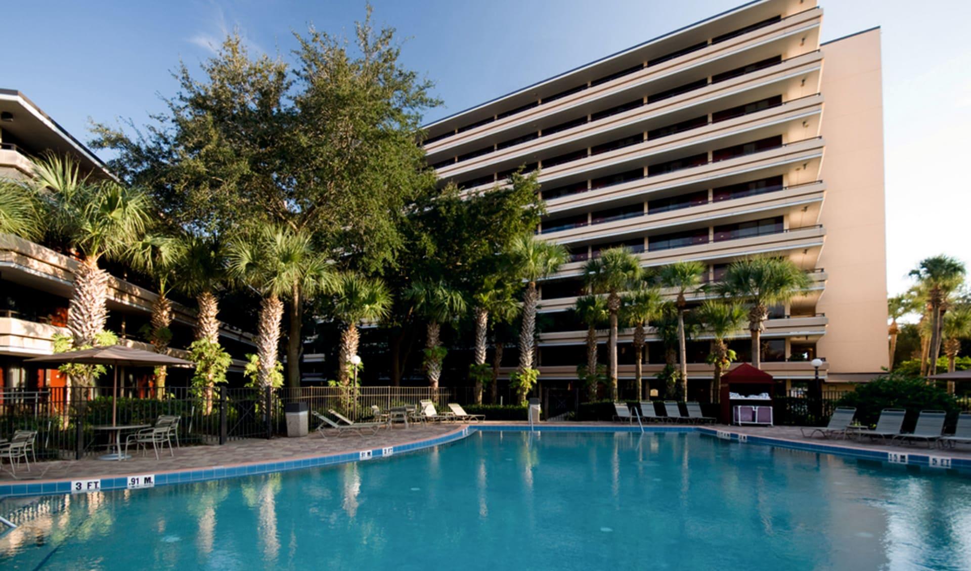 Rosen Inn at Pointe Orlando: pool rosen inn at pointe orlando hotelansicht palmen
