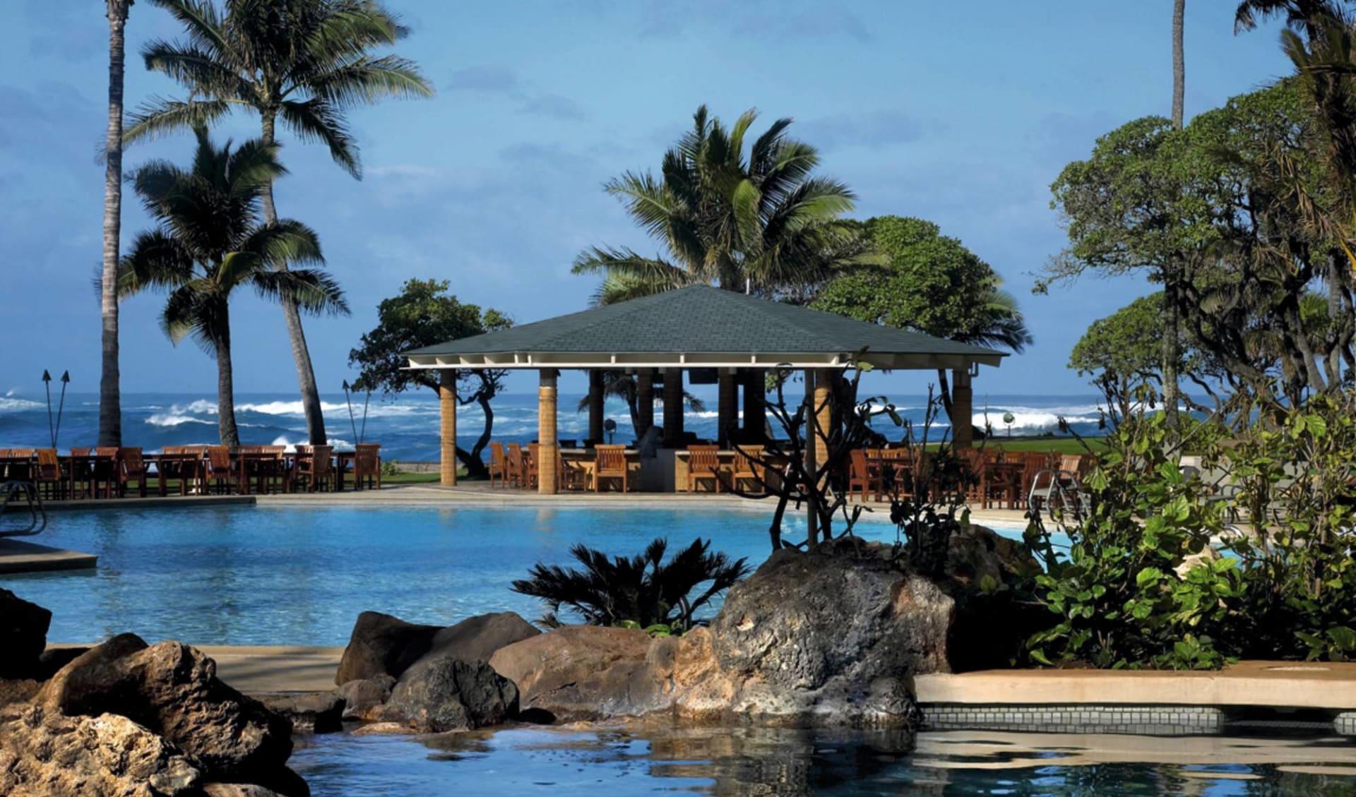 Turtle Bay Resort in Kahuku - Oahu: pool turtle bay resort poolbereich meer palmen