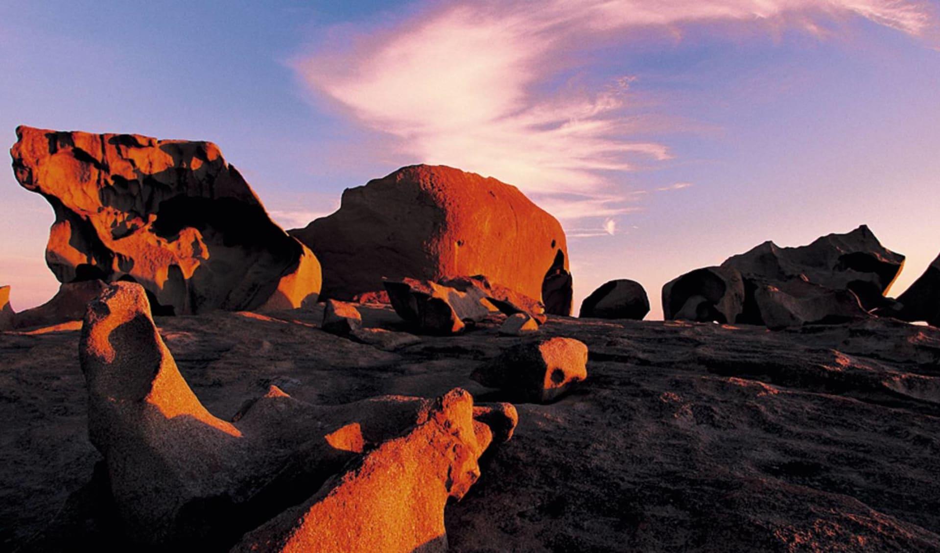 Kangaroo Island Adventure Tour ab Adelaide: Remarkable Rocks - Abendlicht