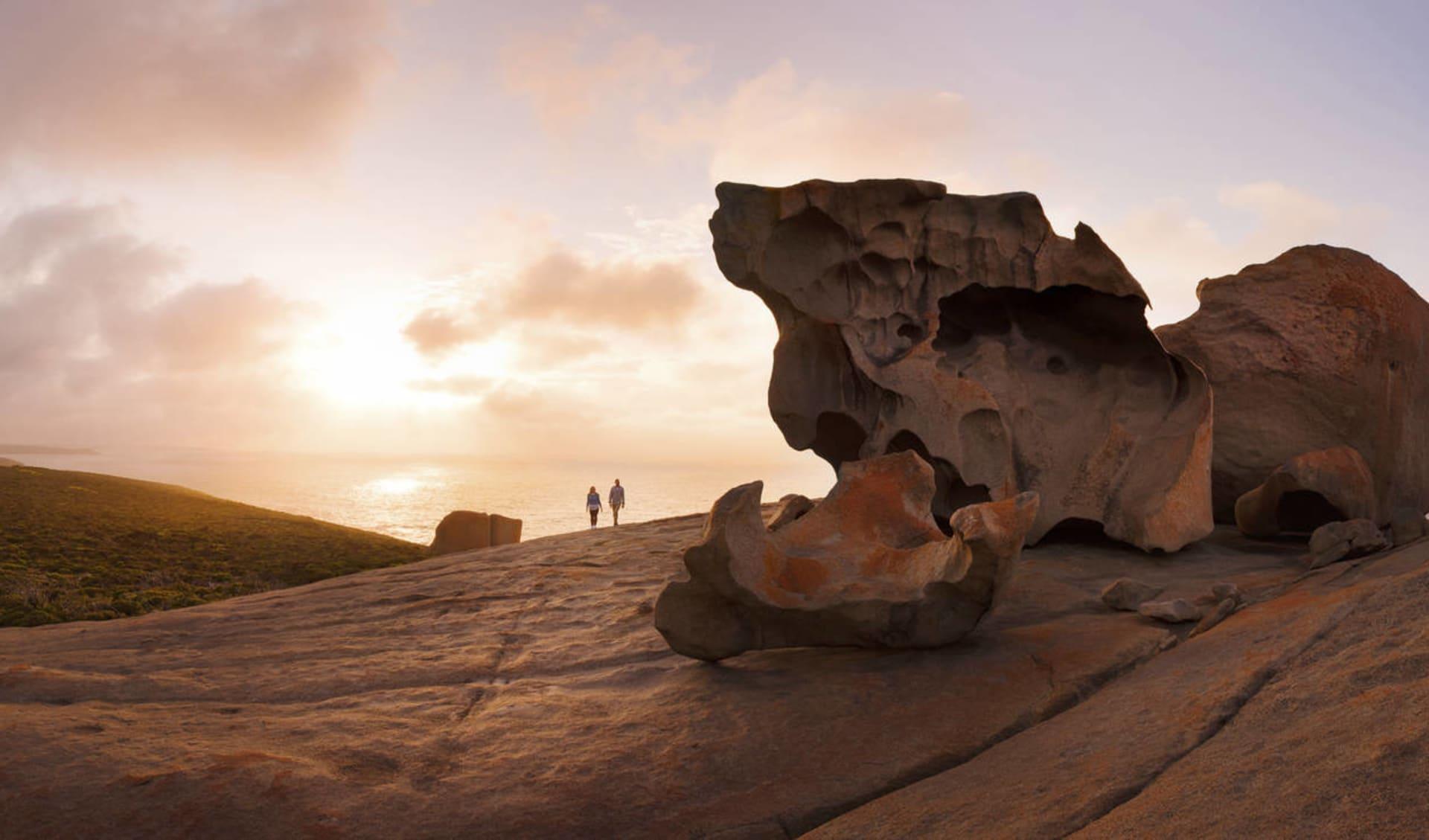 Explorer Tour ab Adelaide: Remarkable Rocks - Abendstimmung