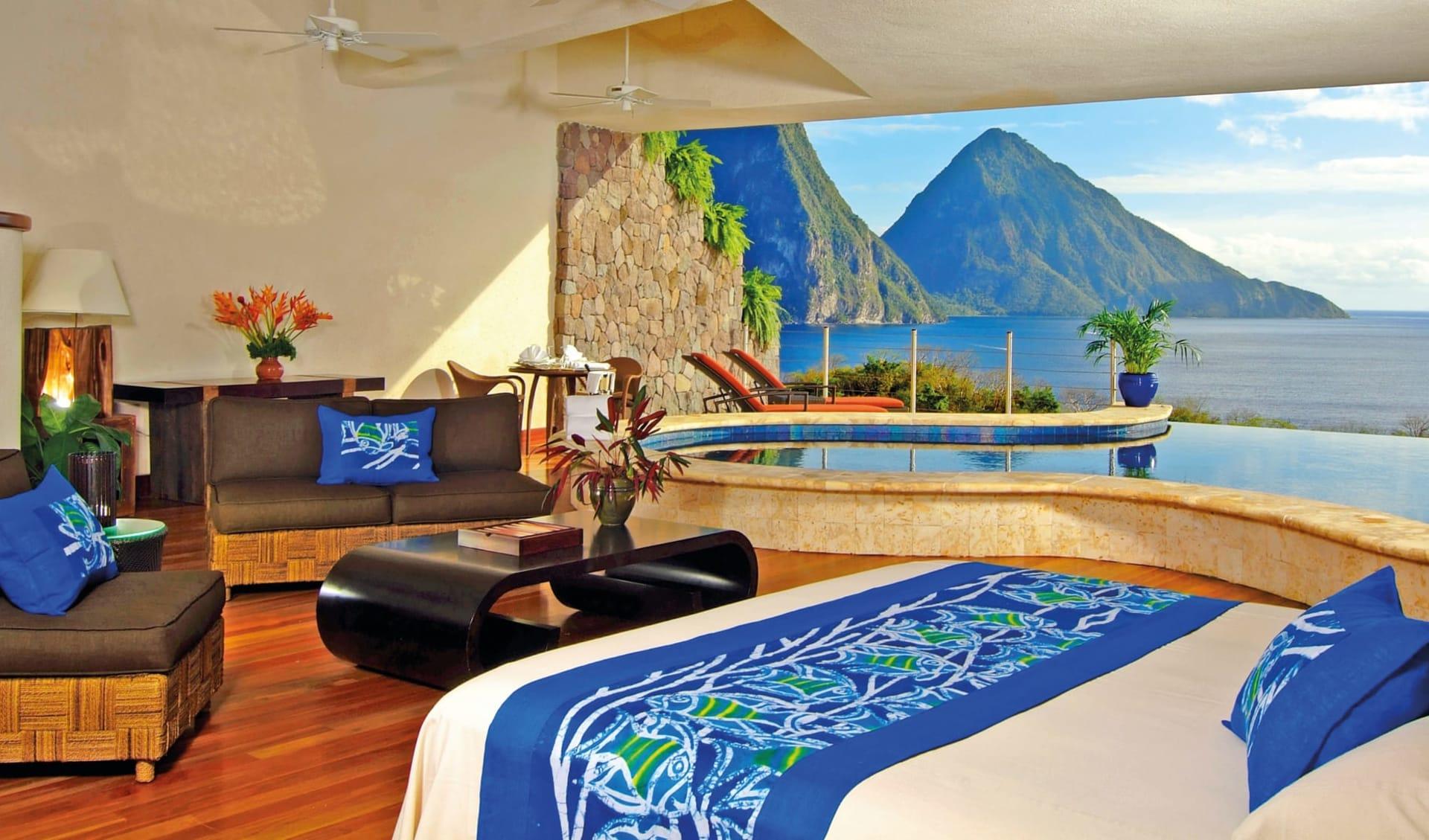 Jade Mountain Resort in Soufrière:  Zimmer Jade Mountain St. Lucia - Moon cHotel
