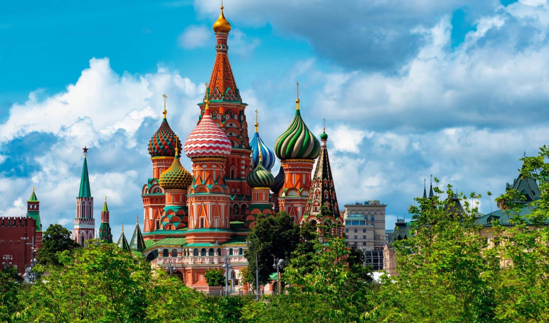 Sonderzug Zarengold Shanghai -Peking-Moskau: Russlan_Moskau_BasiliusKathedrale_