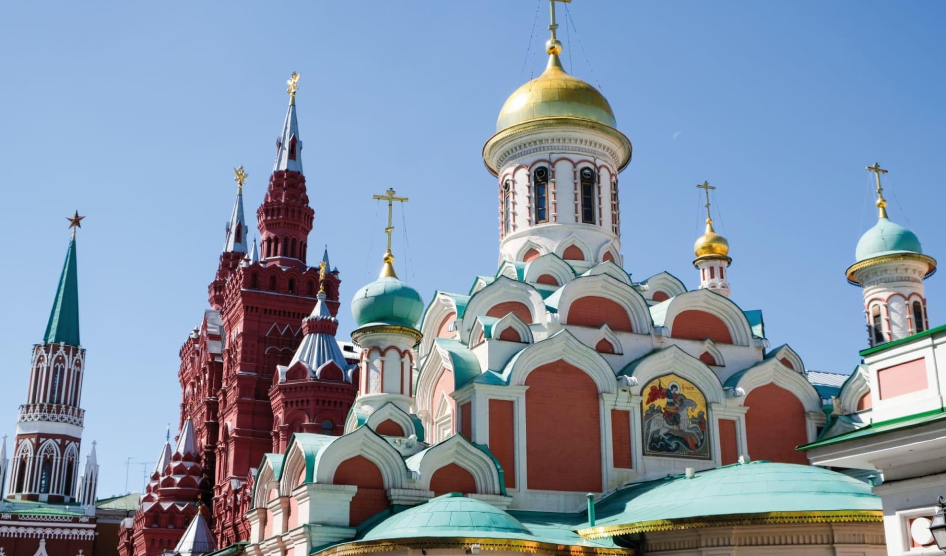 Sonderzug Zarengold von Moskau in die Mongolei - Mongoleirundreise und weiter nach Peking: Russland_Kasan_Kathedrale_