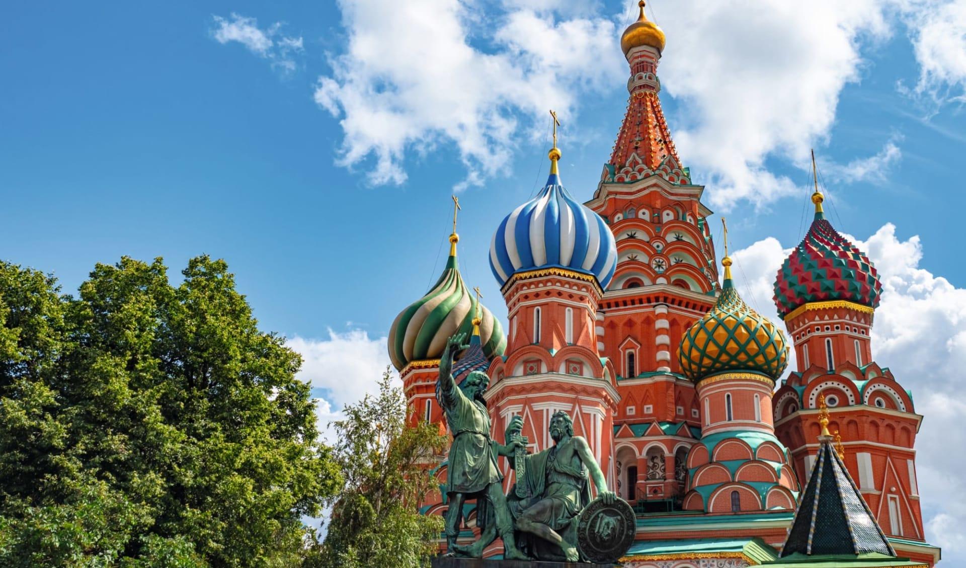 MS Mustai Karim, Vom Zarenprunk ins Machtzentrum ab St. Petersburg: Russland_Moskau_Basiliuskathedrale_