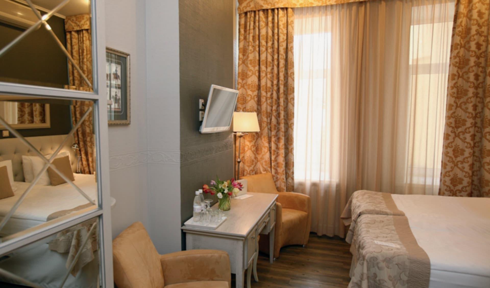 Hotel Pushka Inn in St. Petersburg: Russland_St.Petersburg_PushkaInn_Zimmer
