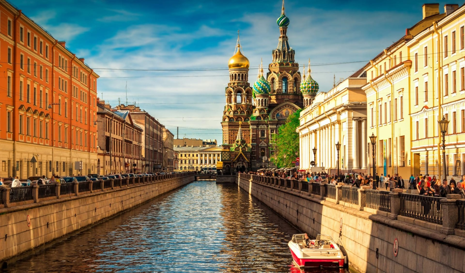 MS Thurgau Karelia, Von St. Petersburg über elf Flüsse und sieben Seen zum Weissen Meer: Russland_StPeterbsurg_Blutskirche_Newa_