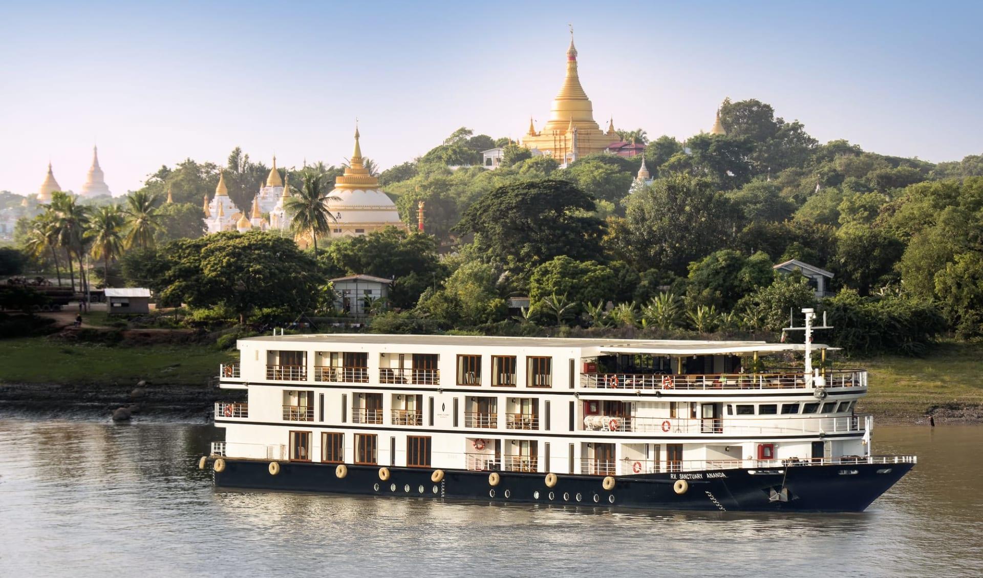 Flusskreuzfahrt auf der «Sanctuary Ananda» Mandalay-Bagan: Sanctuary Ananda Exterior Mandalay-03