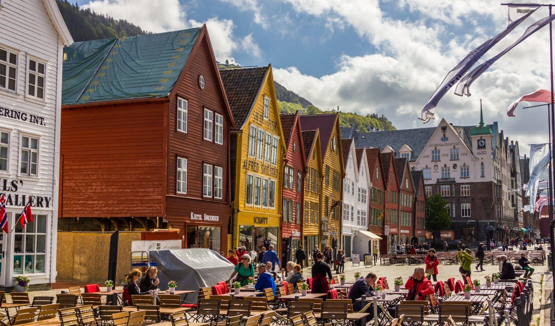 Clarion Admiral in Bergen: Schöne Sicht auf die historischen Gebäude von Bryggen in Bergen