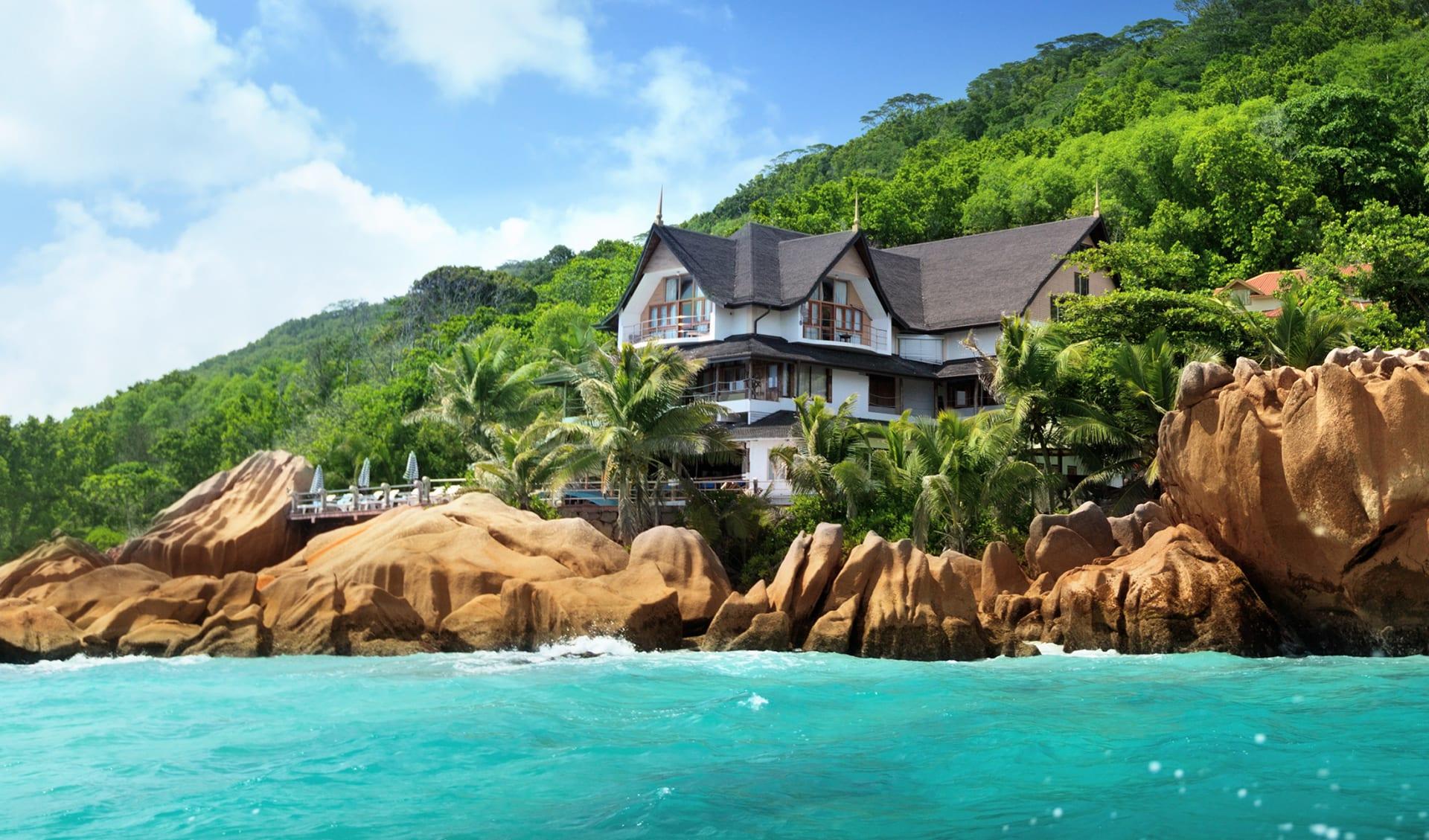 Hotel am Strand, Seychellen