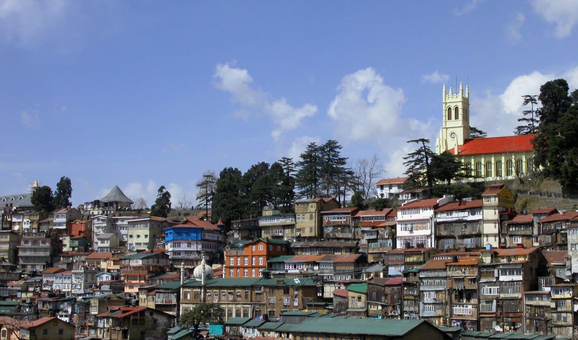 Am Fusse des Himalaya ab Delhi: Shimla: Old Town & Church