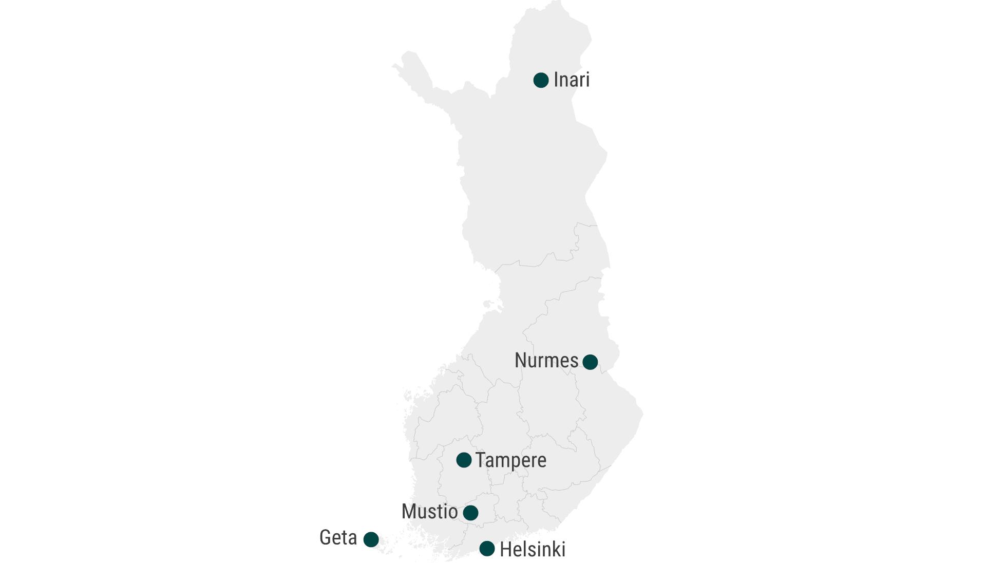 Karte Finnland