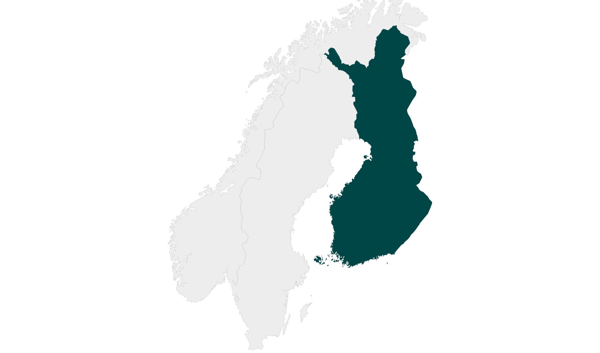 Karte Mietwagenrundreisen Finnland