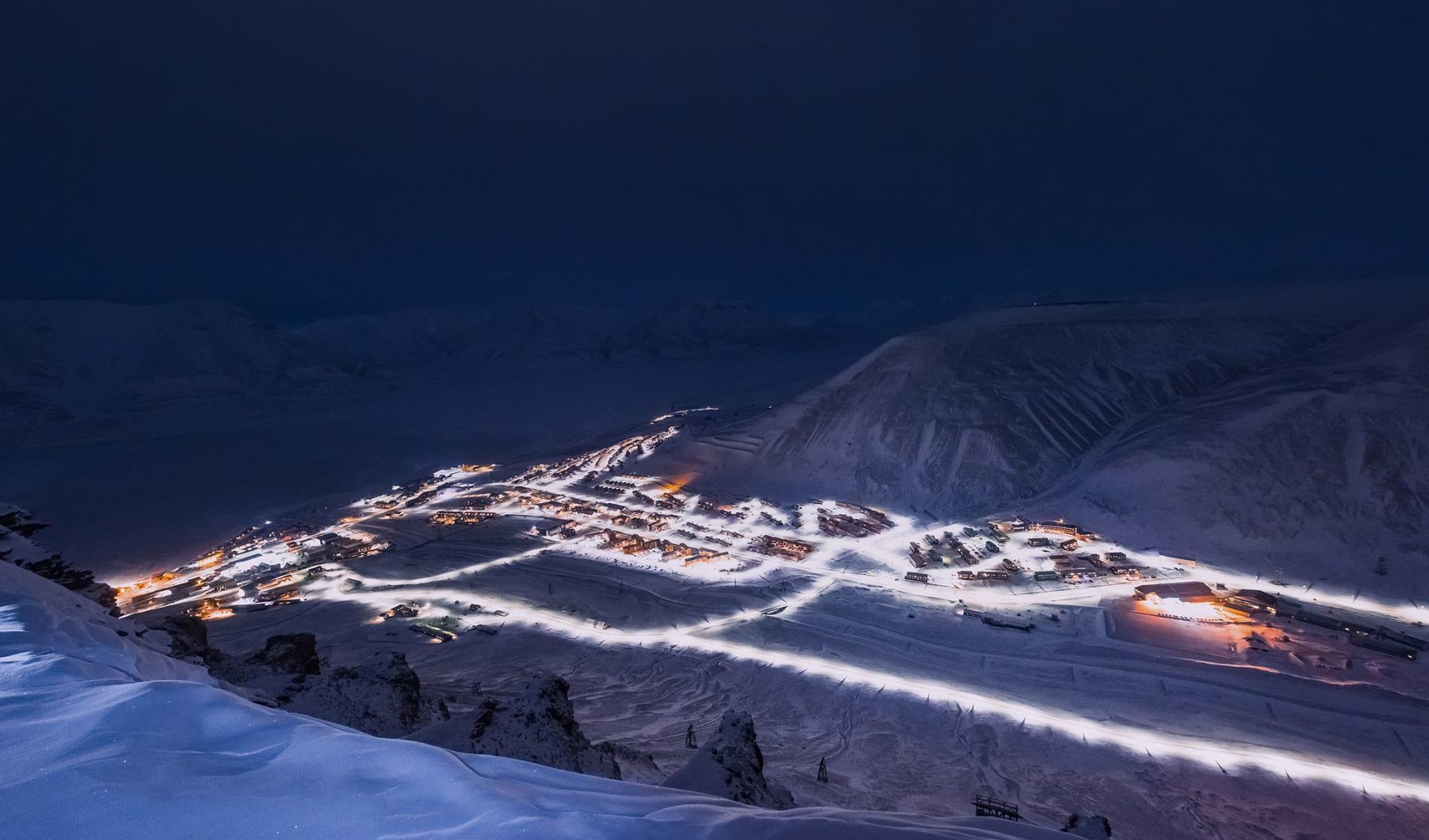 Longyearbyen Plateau Mountain Svalbard, Norwegen