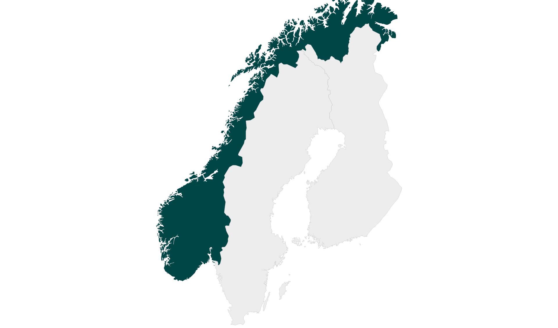 Karte Mietwagenrundreisen Norwegen