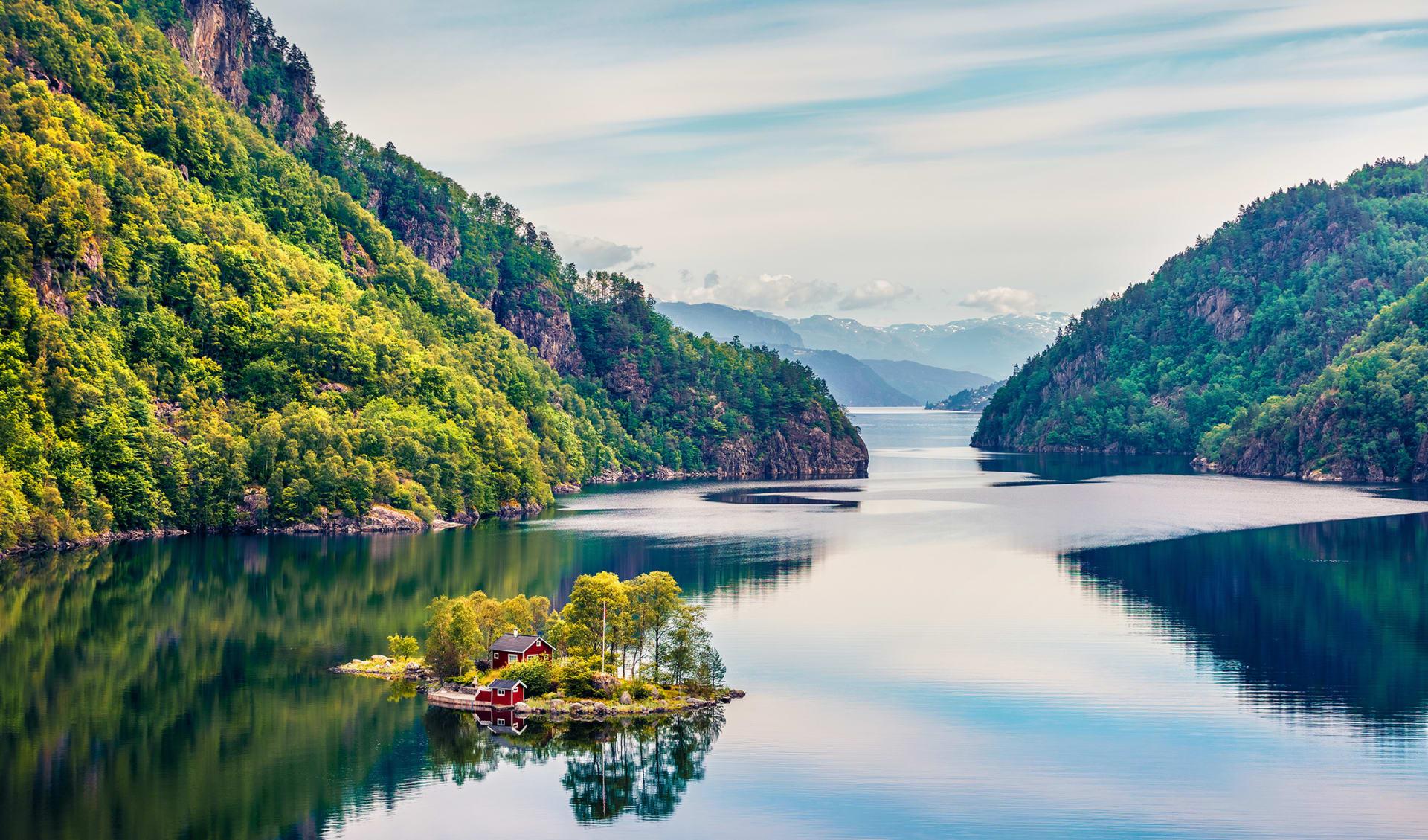 Flord Lovrafjorden, Nordsee, Skandinavien