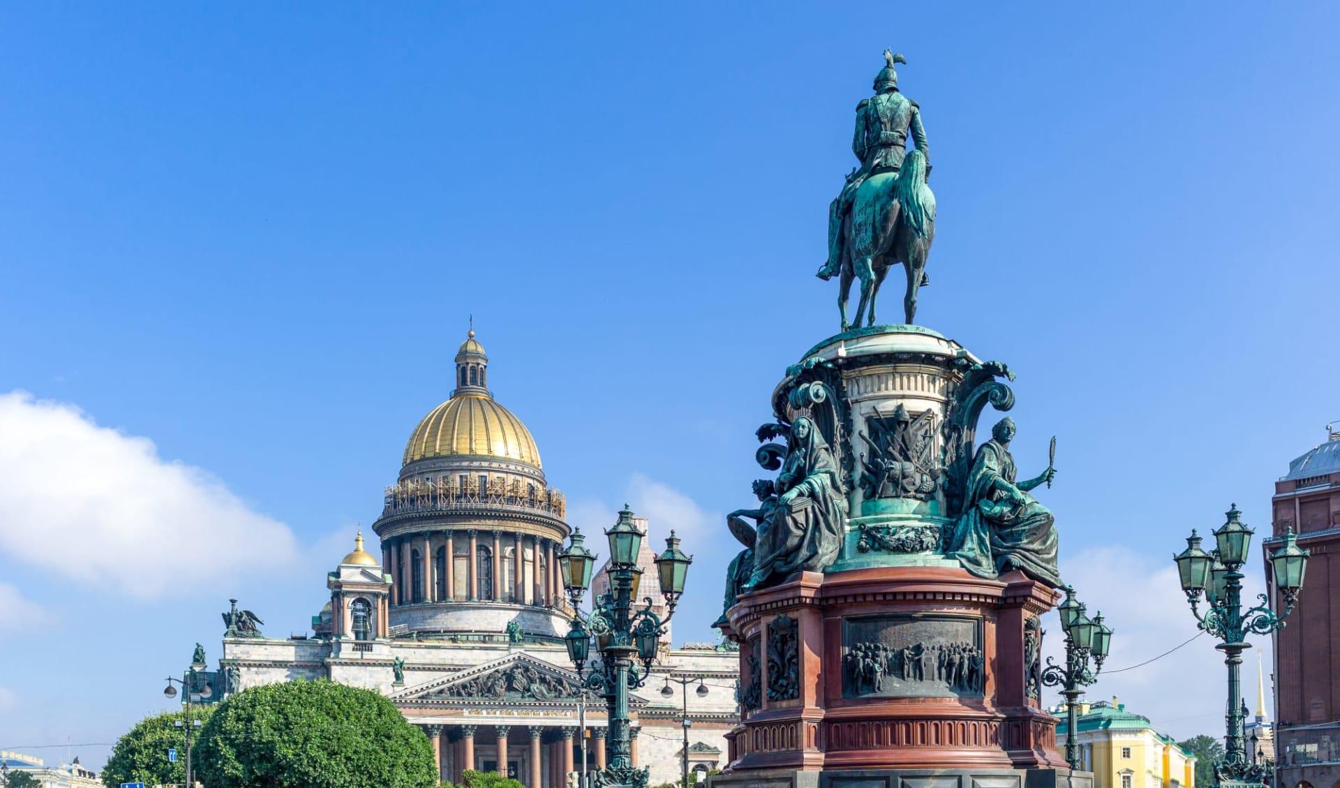 Zarenprunk in St.Petersburg ab St. Petersburg: St. Petersburg Isaaks Kathedrale