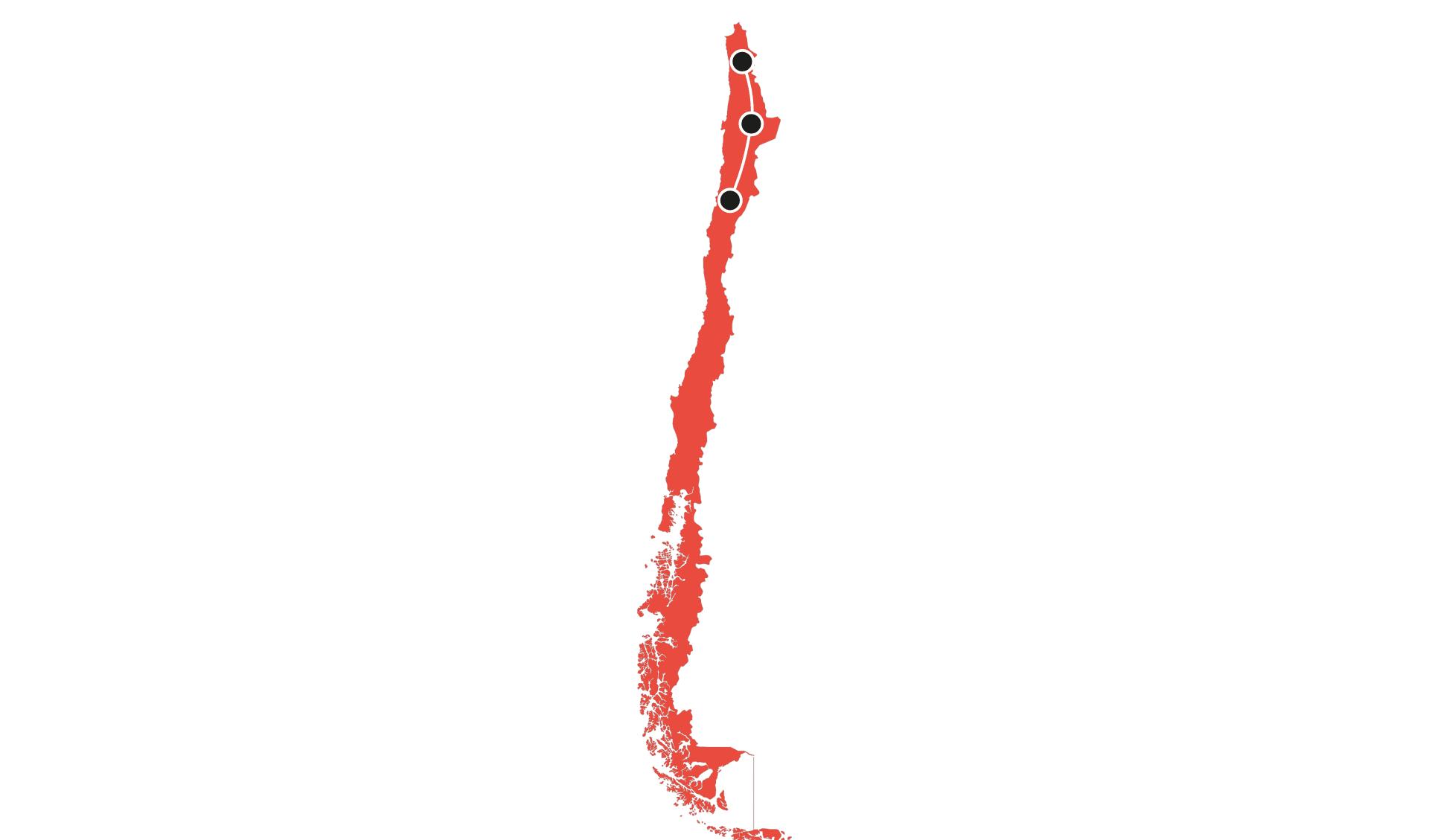 Karte Chile Rundreisen 2 - 7 Tage