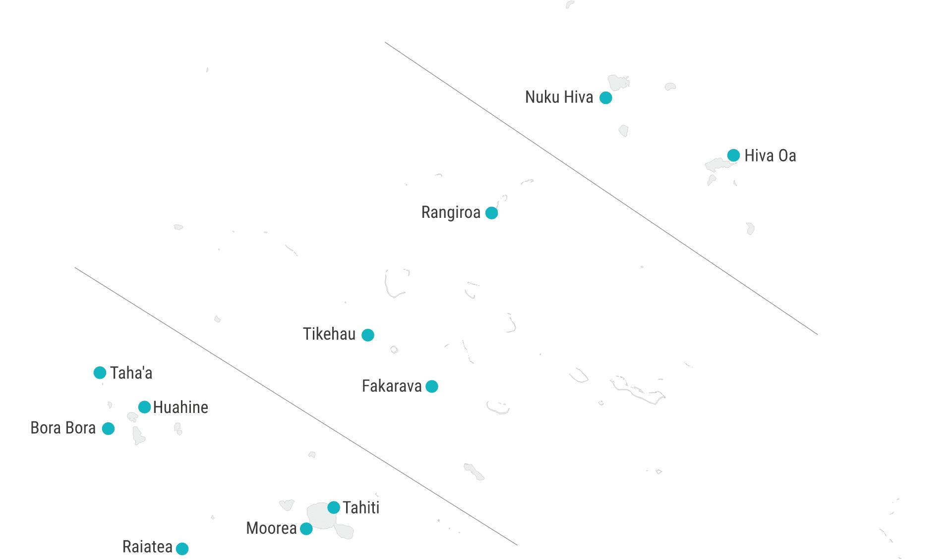 Karte Französisch Polynesien