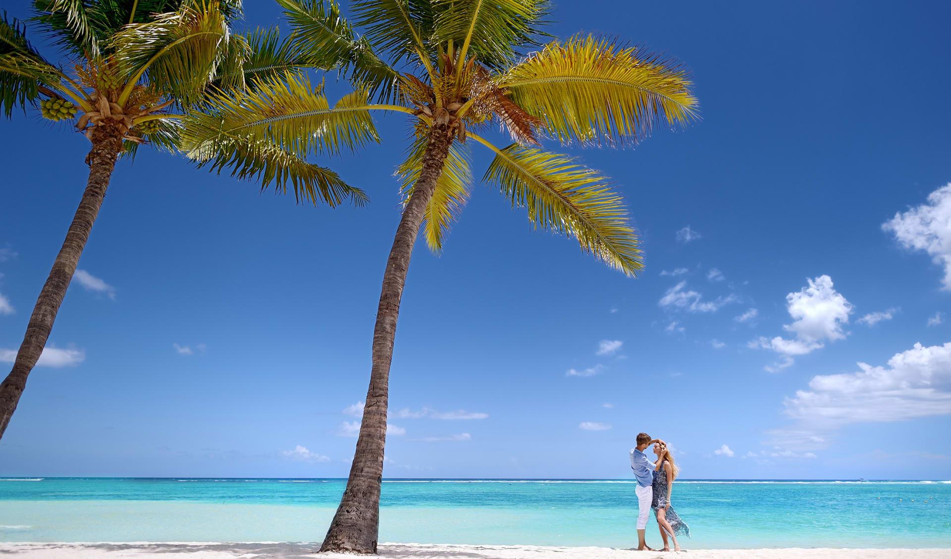 Paar auf der Insel, Fiji
